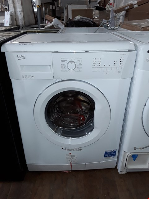 Lot 11055 BEKO WMS6100W 6KG LOAD, 1000 SPIN WASHING MACHINE - WHITE