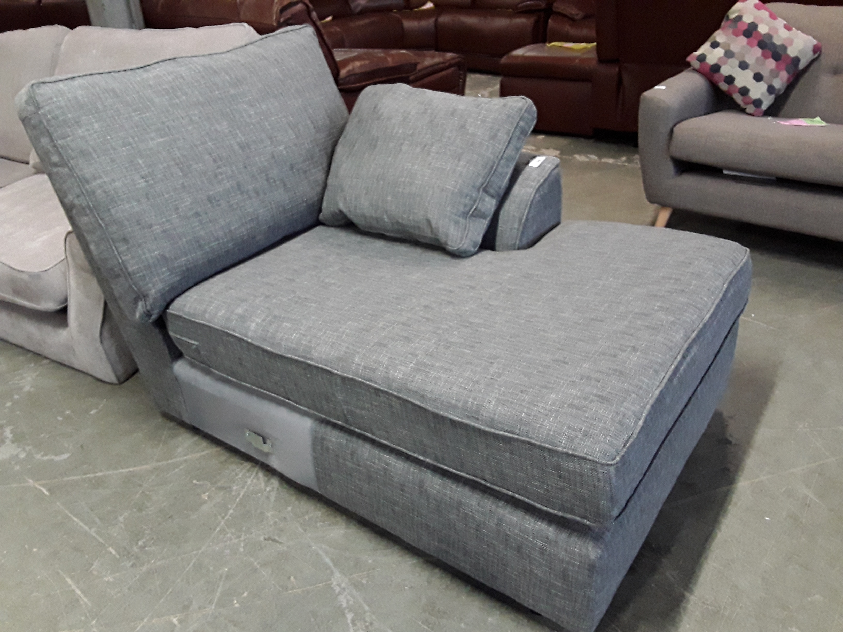 Lot 2011 NANTUCKET GREY FABRIC CHAISE SECTION