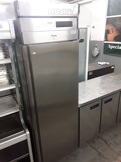Lot 33 HUSKY COMMERCIAL TALL LARDER FRIDGE