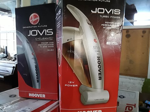 Lot 3 LOT OF 2 ASSORTED HOOVER HAND VACUUM PRODUCTS TO INCLUDE JOVIS CYCLEAN 14.4V & JOVIS TURBO POWER 12V