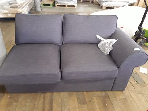 Lot 365 DESIGNER CHARCOAL FABRIC SOFA SECTION