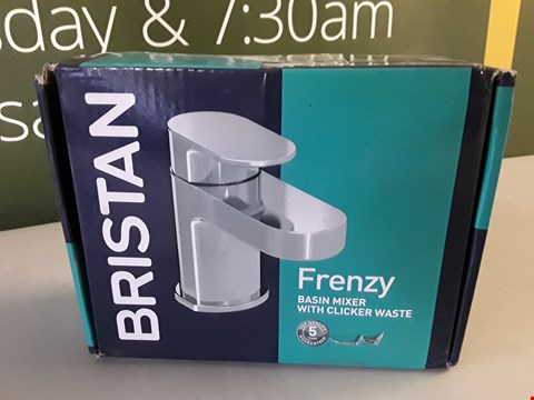 Lot 4 BOXED BRISTAN FRENZY BASIN MIXER WITH CLICKER WASTE RRP £62.00