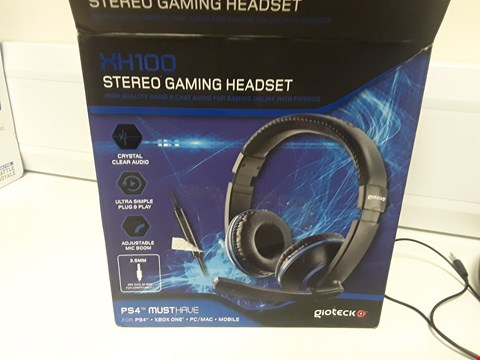 Lot 1435 BOXED GIOTECK XH100 STEREO GAMING HEADSET