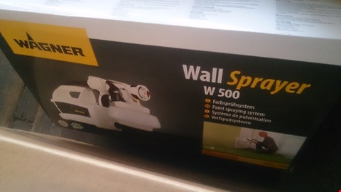 Lot 1055 BOXED WAGNER WALL SPRAYER W 500  WITH WAGNER UNIVERSAL EXTRA EXTENSION