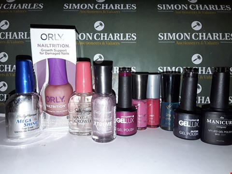Lot 86 LOT OF 190 ASSORTED NAIL PRODUCTS INCLUDING NO7 & ORLY