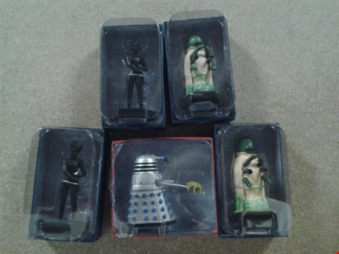 Lot 378 5 ASSORTED DR WHO FIGURINES TO INCLUDE; SCOOP DAKEK, ALPHA CENTURI AND THE VOORD