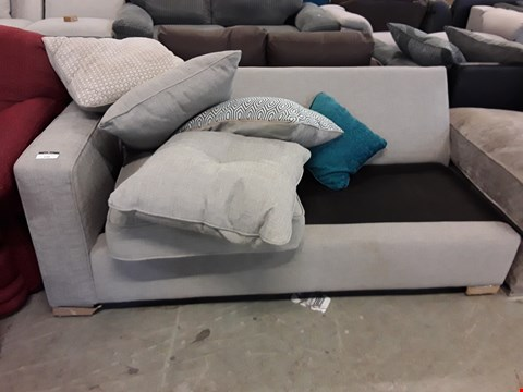 Lot 134 DESIGNER GREY FABRIC SOFA SECTION