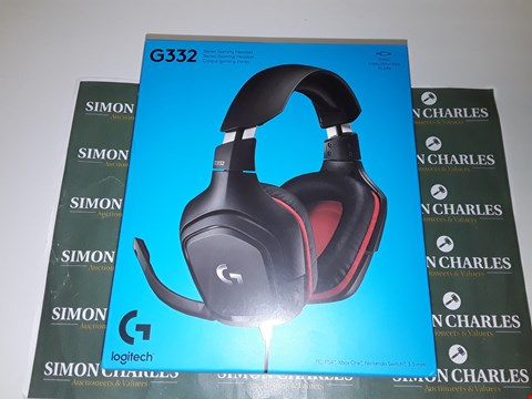Lot 6095 LOGITECH G332 STEREO GAMING HEADSET 6 MM FLIP-TO-MUTE MIC FOR PLAYSTATION 4, XBOX ONE AND NINTENDO SWITCH