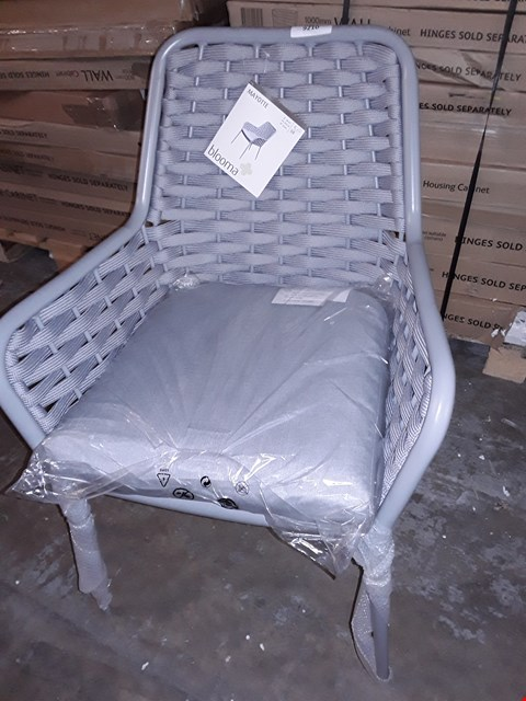 Lot 9210 LOT OF 4 BLOOMA MAYOTTE GREY RATTAN EFFECT OUTDOOR CHAIRS RRP £320.00