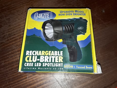 Lot 1008 CLULITE RECHARGABLE CLU-BRITER CREE LED SPOTLIGHT