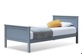 Lot 1103 BOXED TABLEY GREY SINGLE BED (2 OF 2 BOXES)