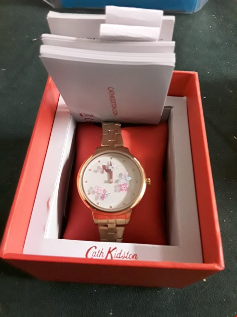 Lot 8236 DESIGNER LADIES METAL STRAP WRISTWATCH IN THE STYLE OF CATH KIDSTON