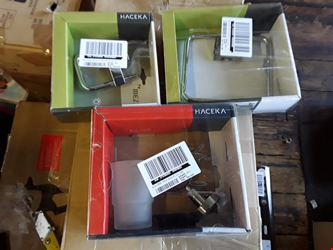 Lot 2066 3 GRADE 1 ITEMS TO INCLUDE HACEKA MEZZO CHROME TOILET ROLL HOLDER, TOWEL RAIL AND KOSMO TUMBLER HOLDER RRP £48