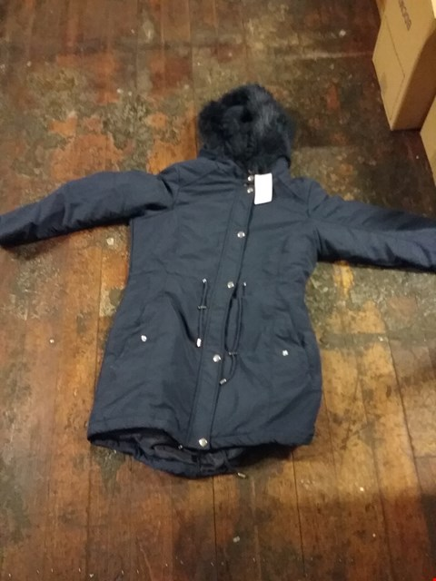 Lot 2668 A BOX OF 8 ASSORTED LONGLINE PARKA JACKET WITH FAUX FUR TRIM