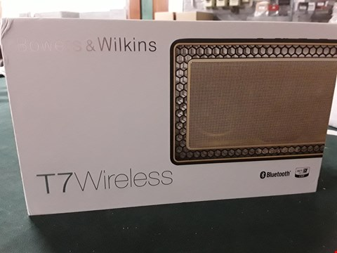 Lot 127 BOXED BOWERS & WILKINS T7 WIRELESS BLUETOOTH SPEAKER GOLD RRP £389.99