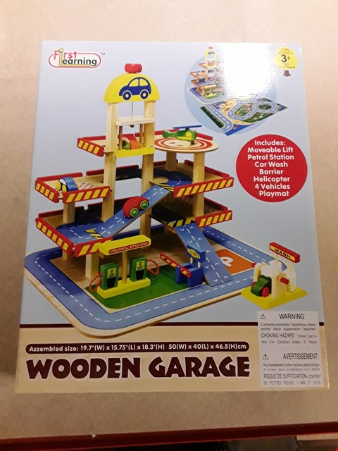 Lot 7063 BOXED FIRST LEARNING WOODEN GARAGE