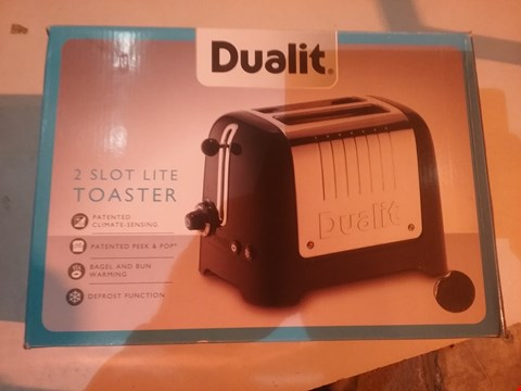 Lot 2795 DUALIT 2 SLOT LITE TOASTER