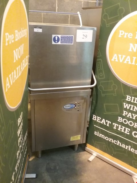 Lot 8 CLASS EQ HYDRO 957 STAINLESS STEEL UPRIGHT PASS THROUGH DISHWASHER