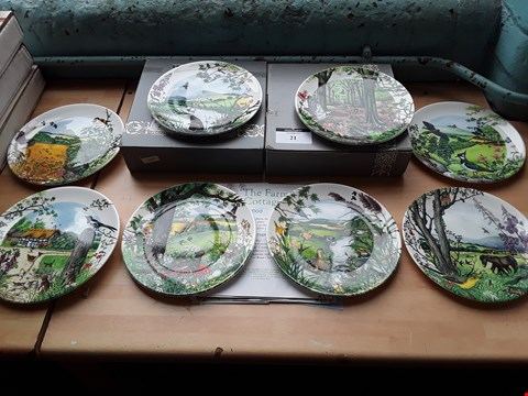 Lot 21 SET OF EIGHT WEDGEWOOD COLLECTORS PLATES, BY COLIN NEWMAN, COUNTRY PANORAMA.