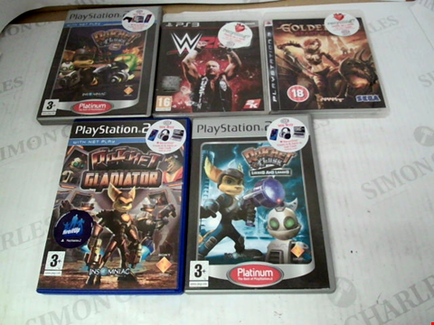 Lot 3168 LOT OF 5 ASSORTED PS2 & PS3 GAMES