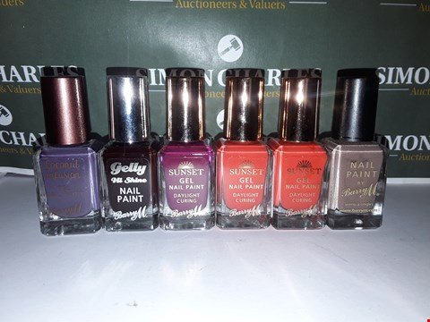 Lot 55 LOT OF 6 ASSORTED BARRY M NAIL POLISHES