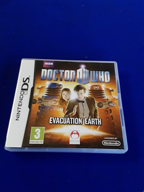 Lot 7613 DOCTOR WHO: EVACUATION EARTH NINTENDO DS GAME