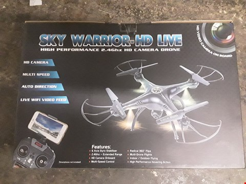 Lot 18107 BOXED SKY WARRIOR HD LIVE HIGH PERFORMANCE 2.4GHZ HD CAMERA DRONE