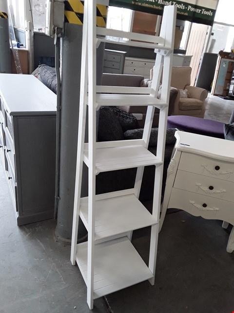 Lot 85 DESIGNER WHITE FINISH LADDER SHELVES
