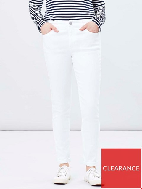 Lot 3688 BRAND NEW JOULES MONROE SKINNY JEANS WHITE SIZE 8 RRP £44.99