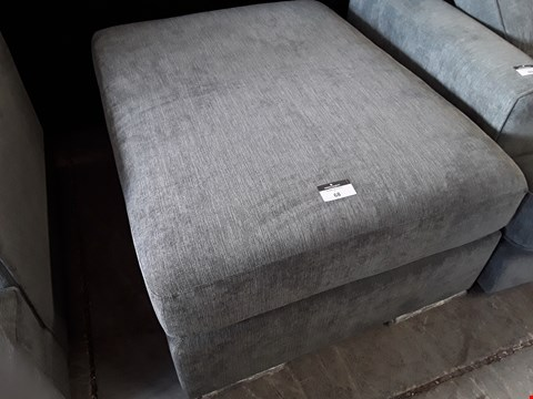 Lot 68 DESIGNER GREY FABRIC LARGE FOOTSTOOL