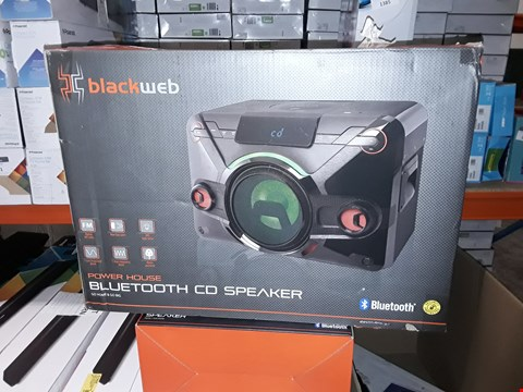Lot 1382 BLACKWEB POWERHOUSE BLUETOOTH CD SPEAKER