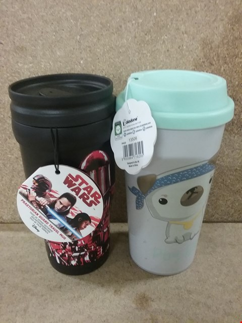 Lot 378 2 BRAND NEW TRAVEL  MUGS INCLUDING STAR WARS AND MY KAWAII