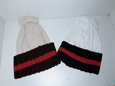 Lot 1026 BOX OF APPROXIMATELY 70 BRAND NEW KNIT BOBBLE HATS