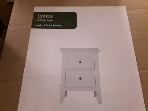 Lot 138 BOXED LYNTON BEDSIDE TABLE - WHITE