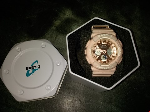 Lot 2112 CASIO BABY G ROSE GOLD CHRONOGRAPH DIAL PINK RESIN STRAP LADIES WATCH RRP £159.00
