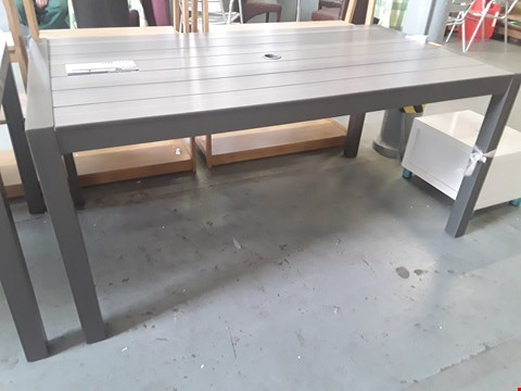 Lot 381 DESIGNER LIFESTYLE GARDEN ALUMINIUM FRAMED & DURABOARD RECTANGULAR PATIO DINING TABLE