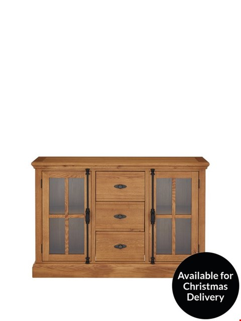 Lot 93 BRAND NEW BOXED WHITFORD LARGE OAK SIDEBOARD  (1 BOX)  RRP £449.99