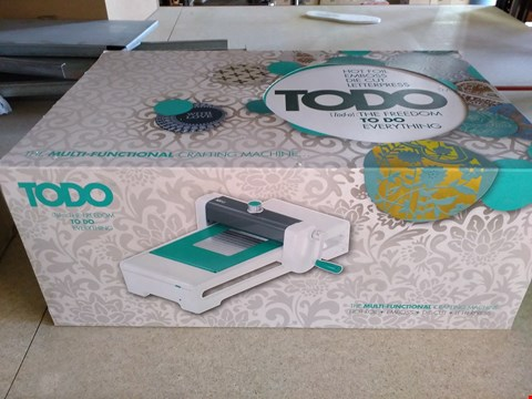 Lot 2026 TODO MULTI-FUNCTIONAL CRAFTING MACHINE - BOXED
