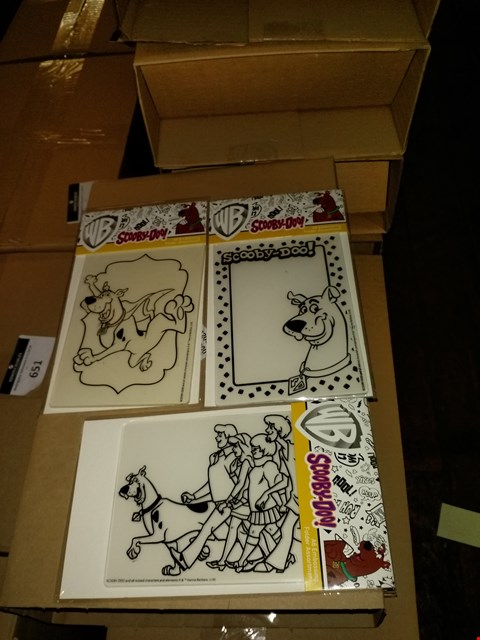 Lot 646 BOX OF APPROXIMATELY 40 SCOOBY DOO EMBOSSING FOLDER ASSORTMENTS