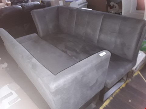 Lot 7089 TWO GREY FABRIC BENCH SECTIONS