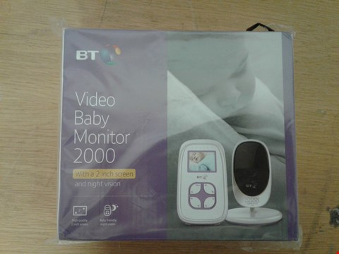 Lot 2015 BT VIDEO BABY MONITOR 2000 RRP £75