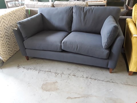 Lot 2007 QUALITY BRITISH DESIGNER NAVY FABRIC OSCAR 2 SEATER SOFA