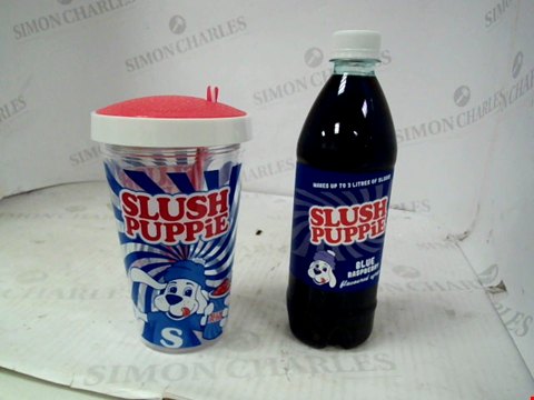 Lot 10103 FIZZ SLUSH PUPPIE SYRUPS AND CUP GIFT SET RRP £20.00