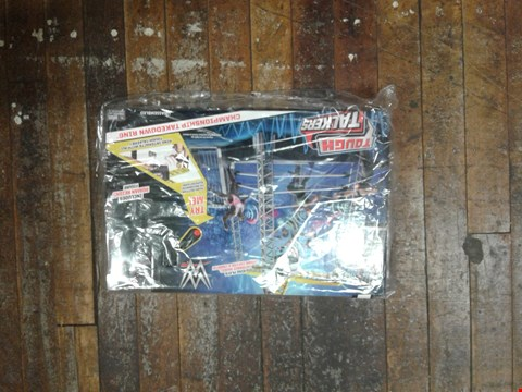 Lot 1752 WWE TOUGH TALKERS TAKE DOWN RING AND FIGURES RRP £83