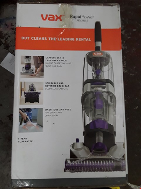 Lot 332 VAX RAPID POWER ADVANCE VACUUM