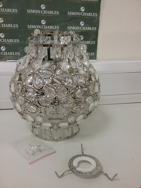 Lot 6030 YASMINE SILVER PENDANT WITH CRYSTAL DROPLETS RRP £30.00