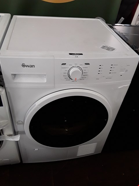 Lot 12 SWAN STC7020W WHITE 8KG CONDENSER TUMBLE DRYER RRP £259.00