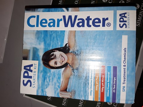 Lot 7513 CLEARWATER SPA STARTER KIT  RRP £42.99