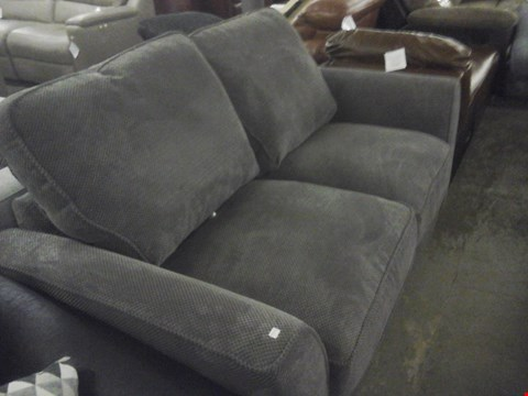 Lot 89 DESIGNER GREY FABRIC 2 SEATER SOFA