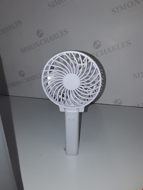 Lot 472 HANDHELD RECHARGEABLE FAN (NO BATTERY)